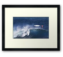 Michel Bourez At Billabong Pipe Masters In Memory of Andy Irons 2011 Framed Print