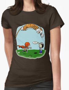 Tigerhobbes Play With Best Friend  Womens Fitted T-Shirt