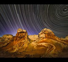 White Pockets Star Trail by Dick Paige