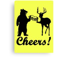 Bear, deer, beer, & cheers Canvas Print