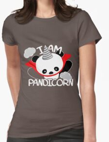 Funny Panda Pandicorn Womens Fitted T-Shirt