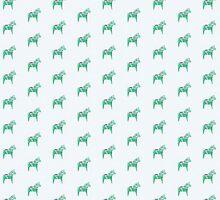 Dala Horse, Mint Green by ThistleandFox