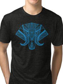 Elephant Head - Blue Tri-blend T-Shirt