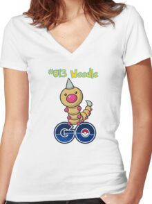 013 Weedle GO! Women's Fitted V-Neck T-Shirt