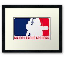 Major League Archers Framed Print