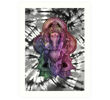 Color Ganesha Tie Dye Art Print