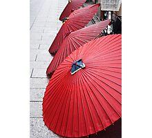 Red umbrellas 和傘 Photographic Print