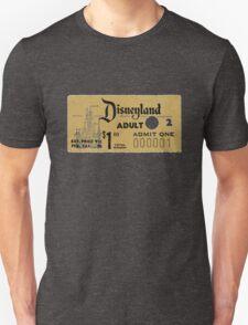Vintage Disneyland, 1st Entry ticket Unisex T-Shirt