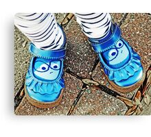 Blue Shoes Canvas Print