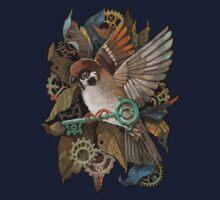 Clockwork Sparrow One Piece - Short Sleeve