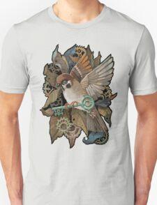 Clockwork Sparrow Unisex T-Shirt