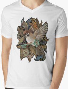 Clockwork Sparrow Mens V-Neck T-Shirt