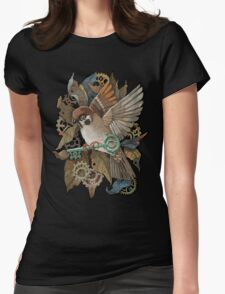 Clockwork Sparrow Womens Fitted T-Shirt