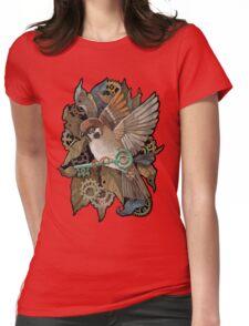 Clockwork Sparrow Womens Fitted T-Shirt