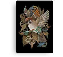 Clockwork Sparrow Canvas Print