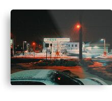 8:26, walking during a blizzard Metal Print