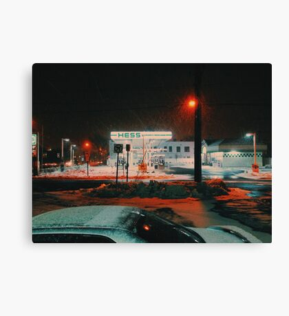 8:26, walking during a blizzard Canvas Print