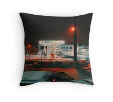 8:26, walking during a blizzard Throw Pillow