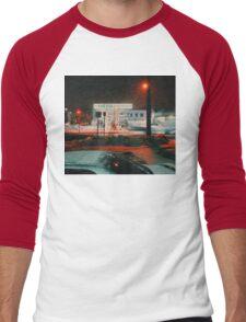 8:26, walking during a blizzard Men's Baseball ¾ T-Shirt