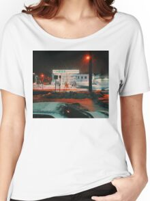 8:26, walking during a blizzard Women's Relaxed Fit T-Shirt