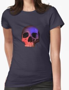 Red/Blue Skull Womens Fitted T-Shirt
