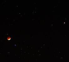 Lunar Eclipse and Mars (April 15, 2014) by Daniel Owens