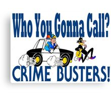 Crime Busters Canvas Print