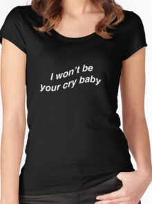 CRY BABY Women's Fitted Scoop T-Shirt