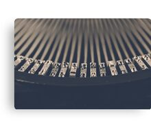 Vintage Typewriter Macro Canvas Print