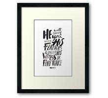 Psalm 91:4 Framed Print