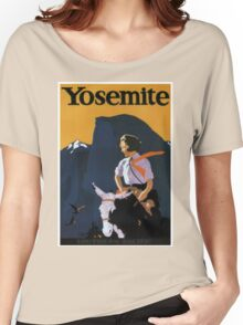 Vintage Yosemite travel poster Women's Relaxed Fit T-Shirt