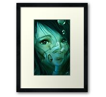 Black Matrix Framed Print