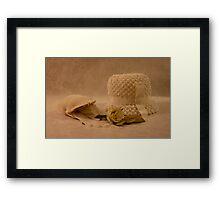 Mothers White Hat Framed Print