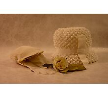 Mothers White Hat Photographic Print