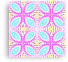 Sweet pastel kaleidoscope pattern Canvas Print