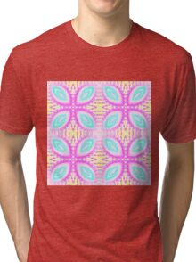 Sweet pastel kaleidoscope pattern Tri-blend T-Shirt