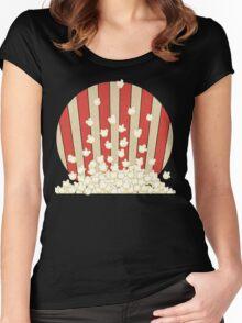 Popcorn Pop Art Women's Fitted Scoop T-Shirt