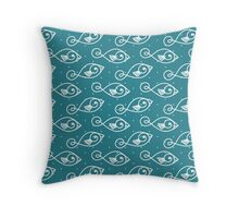 Fish Lineart Pattern Throw Pillow