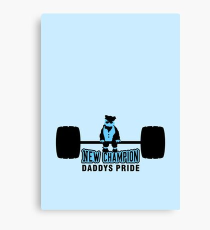 Heavy Baby Weight lifter VRS2 Canvas Print