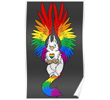 Gay Pride Griffin (White Version) Poster