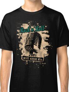 Rock-n-Roll Microphone - green Classic T-Shirt