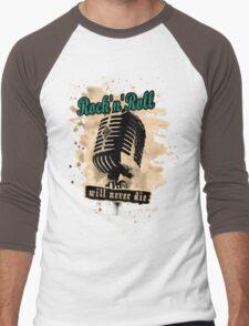Rock-n-Roll Microphone - green Men's Baseball ¾ T-Shirt