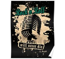 Rock-n-Roll Microphone - green Poster