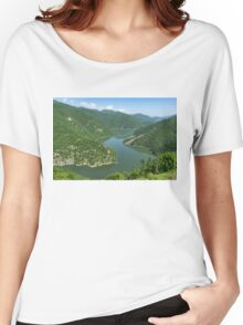 Green Mountains, Spilling in the Lake Women's Relaxed Fit T-Shirt