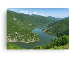Green Mountains, Spilling in the Lake Canvas Print