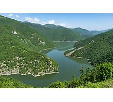 Green Mountains, Spilling in the Lake Photographic Print