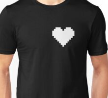 White Pixel Heart Unisex T-Shirt