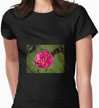 Rose, intense and voluptuous...... Womens Fitted T-Shirt