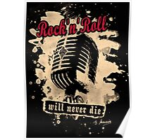 Rock-n-Roll Microphone - red Poster