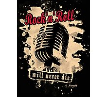 Rock-n-Roll Microphone - red Photographic Print